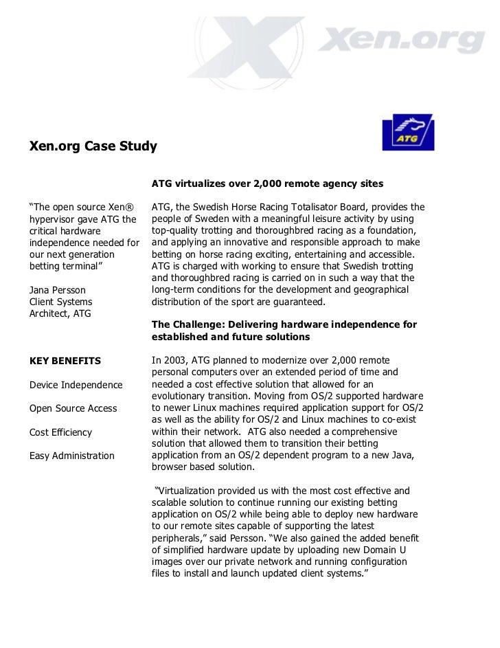 Xen ATG case study