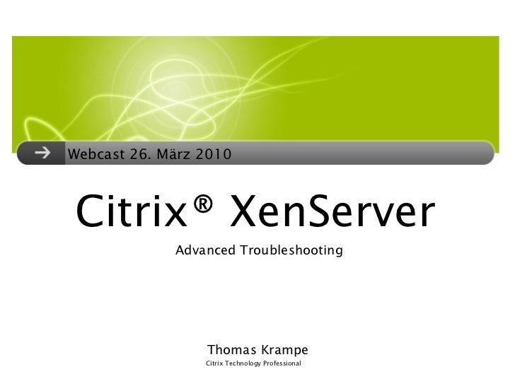 Citrix XenServer 5.5 Troubleshooting