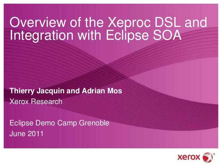 Integrating Xeproc DSL into Eclipse SOA