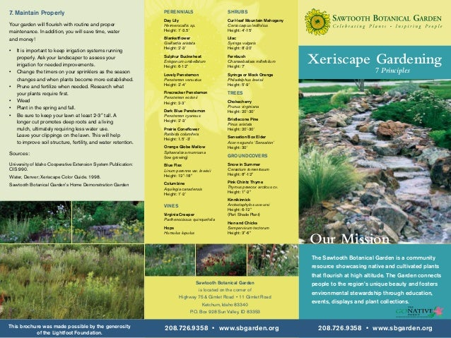 Xeriscape Gardening: 7 Principles - Sawtooth Botanical Garden, Ketchum, Idaho