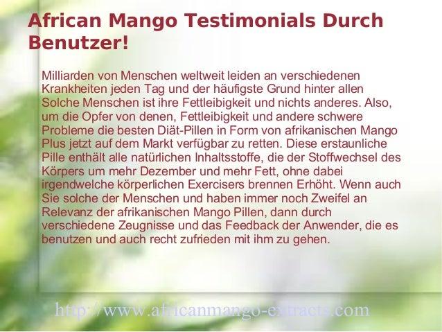 African Mango Testimonials DurchBenutzer! Milliarden von Menschen weltweit leiden an verschiedenen Krankheiten jeden Tag u...