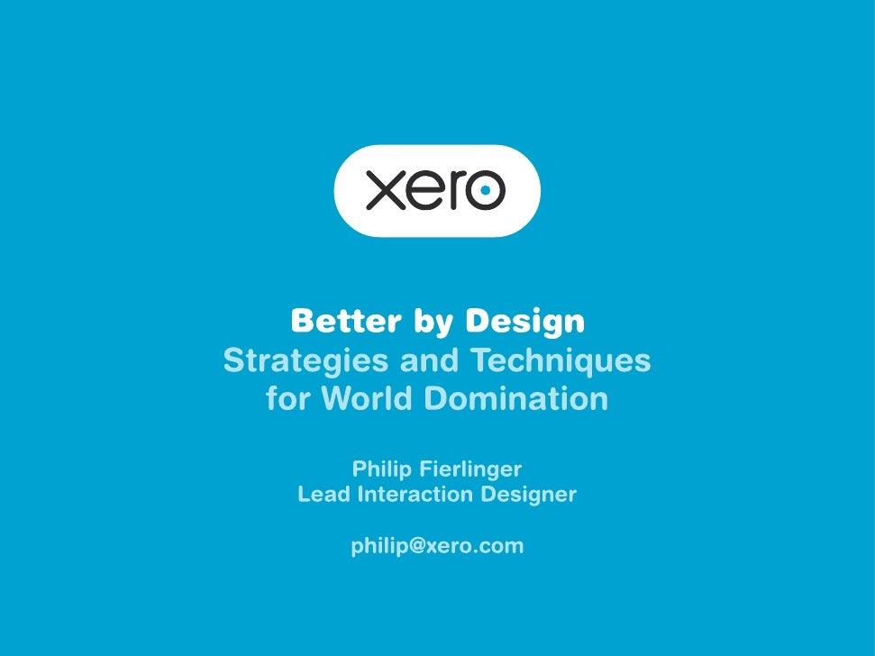 Xero   Better by Design