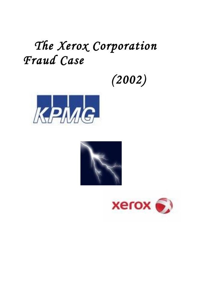 The Xerox Corporation Fraud Case                (2002)