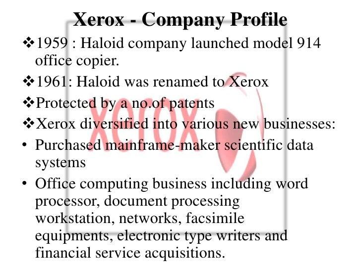 Xerox case study presentation