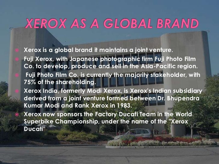 Xerox corporation case study summary