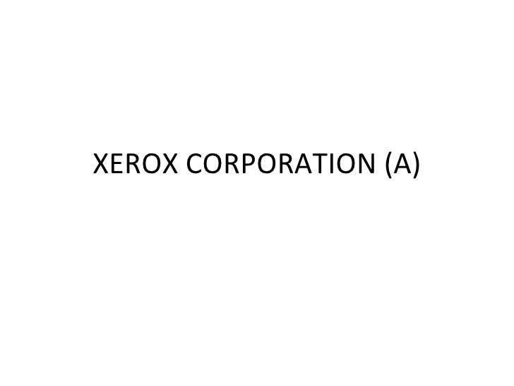 Xerox corporation (a)