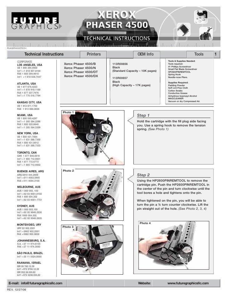 Manual de Recarga Xerox Phaser 4500 113R657