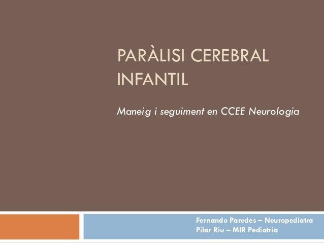 Paràlisi Cerebral Infantil
