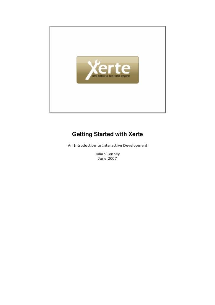 Xerte gettingstarted