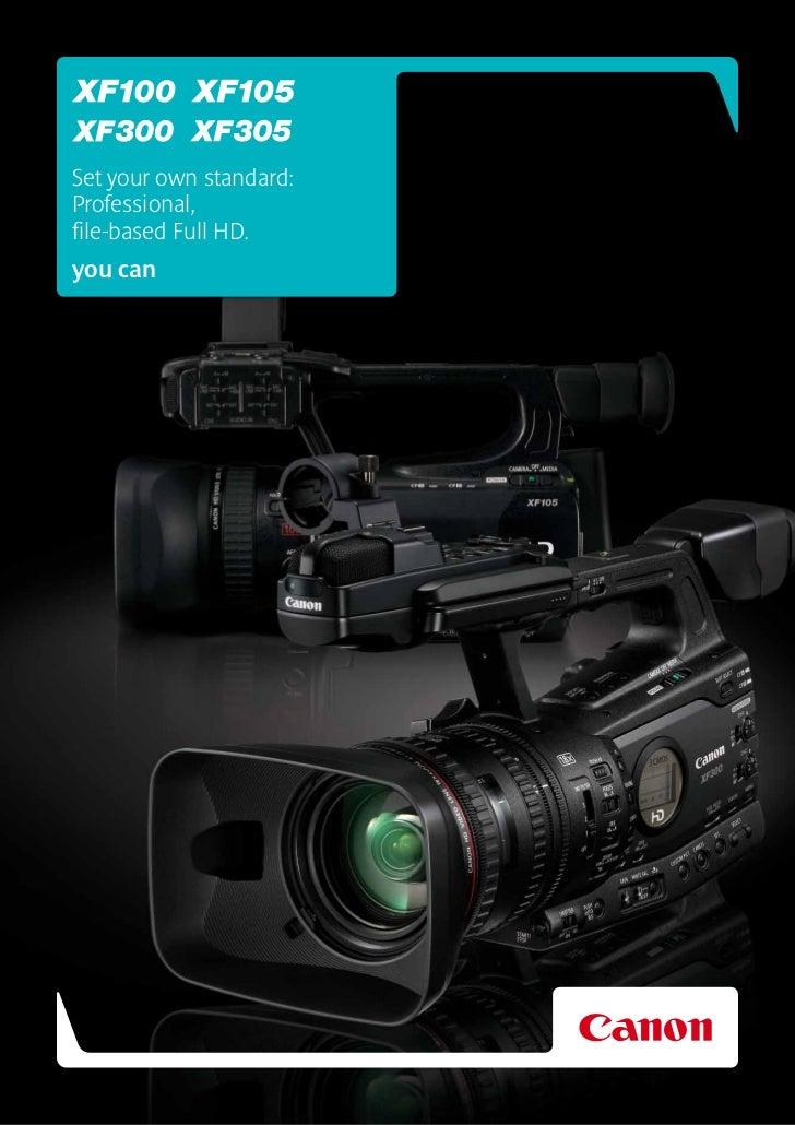 Canon XF100 & XF105