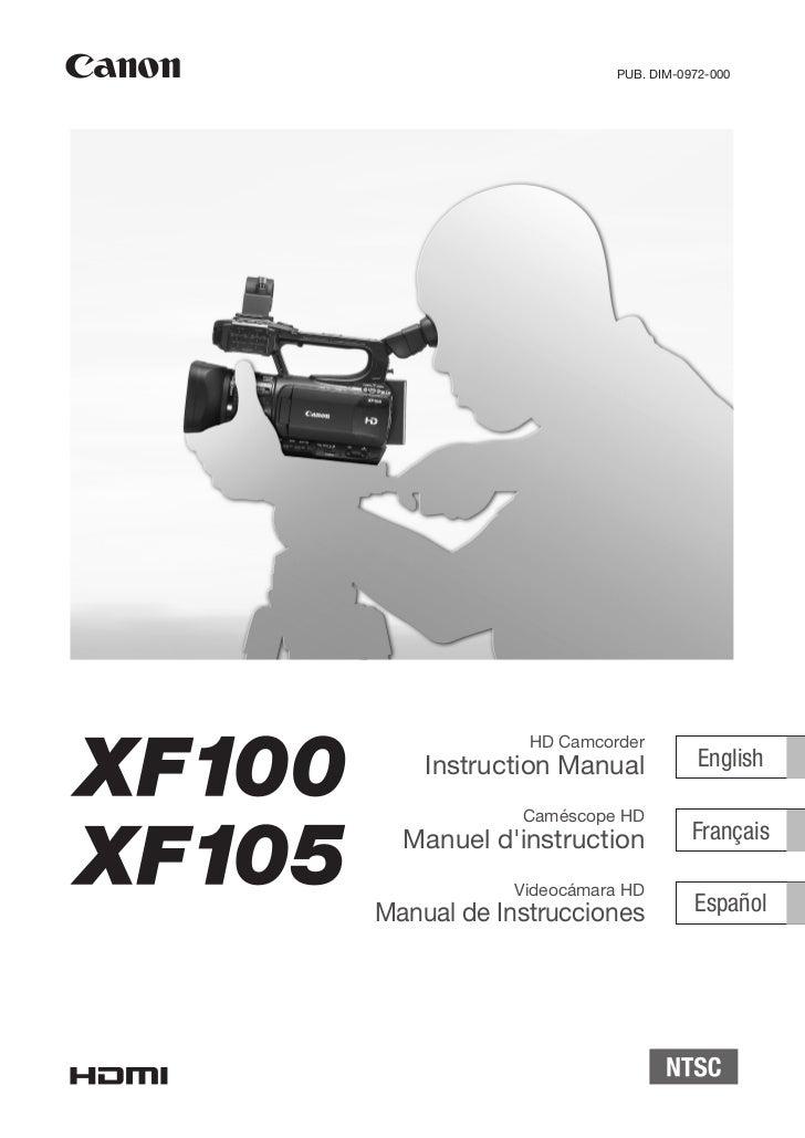 PUB. DIM-0972-000             HD Camcorder    Instruction Manual            English            Caméscope HD  Manuel dinstr...