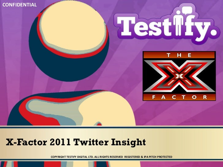 Social CRM Agency Testify Digital Xfactor 2011: Twitter Insight & Monitoring Report