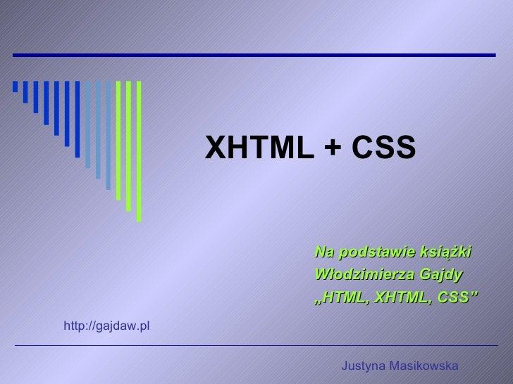 XHTML+ CSS