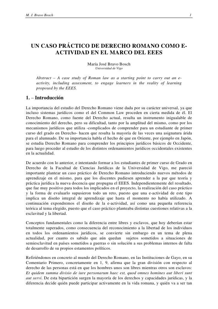 M. J. Bravo Bosch                                                                               1   UN CASO PRÁCTICO DE DE...