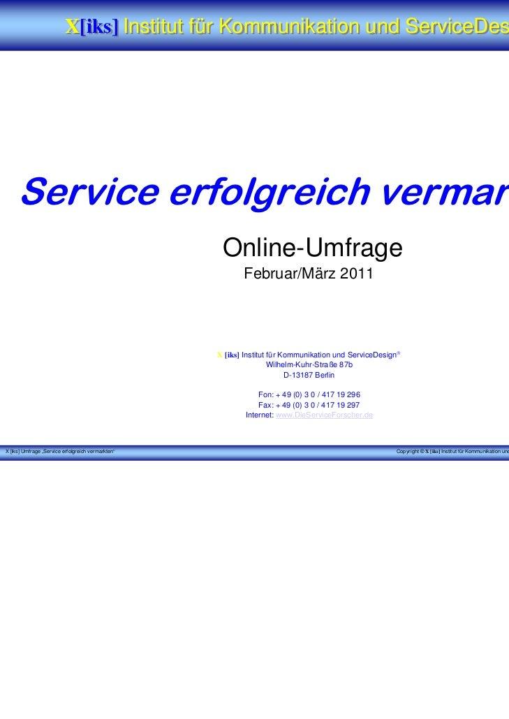 Service erfolgreich vermarkten