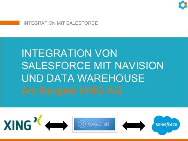 INTEGRATION MIT SALESFORCE Integration von salesforce.com mit SAP und xpi von Magic bei der GOLFINO AGINTEGRATION VON SALE...