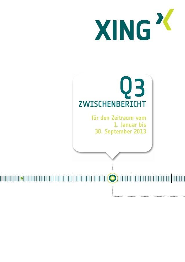 XING AG Zwischenbericht Q3/2013