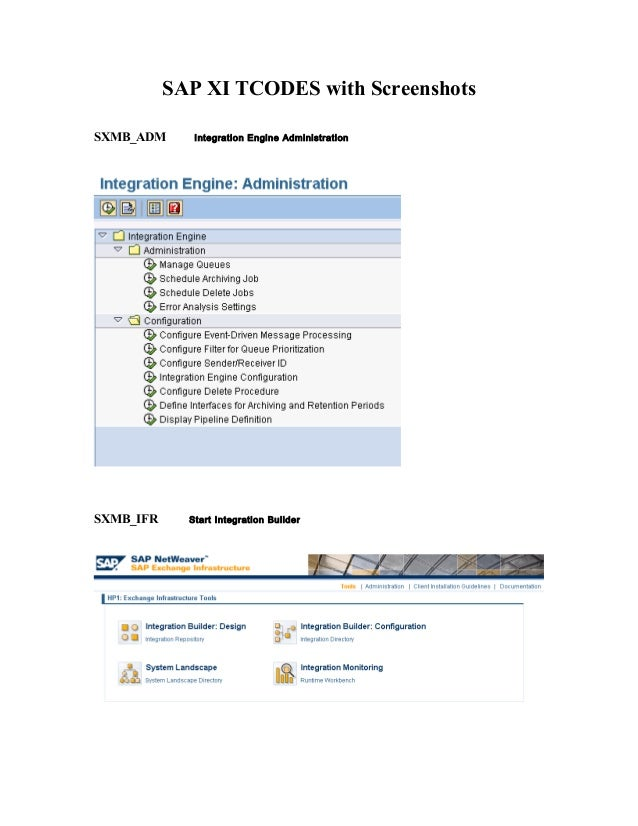 Xi tcodes screenshots
