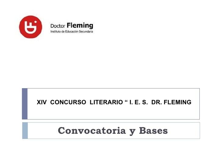 XIV concurso literario ies doctor fleming