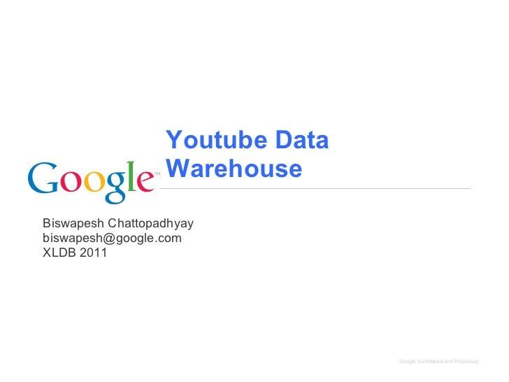 Youtube Data                  WarehouseBiswapesh Chattopadhyaybiswapesh@google.comXLDB 2011                               ...