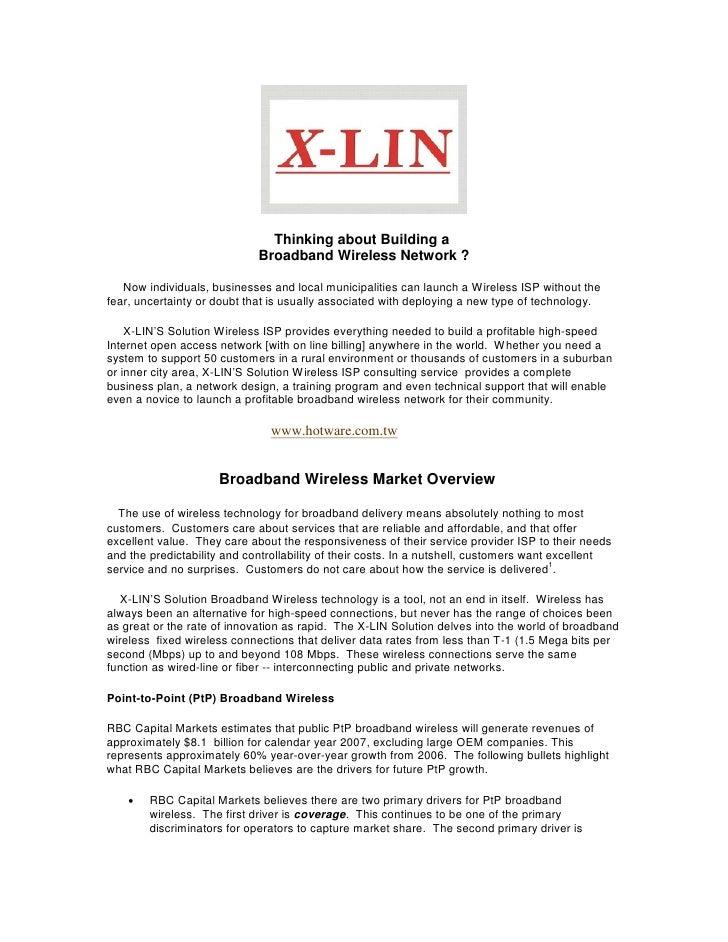 X Lin Building An Isp