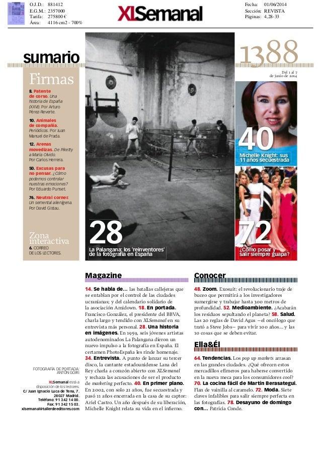 Reportaje de XL Semanal sobre La Palangana