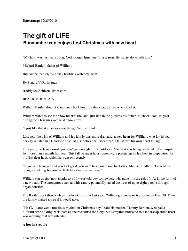"""Datestamp: 12/25/2010The gift of LIFEBuncombe teen enjoys first Christmas with new heart""""My faith was just that strong. Go..."""