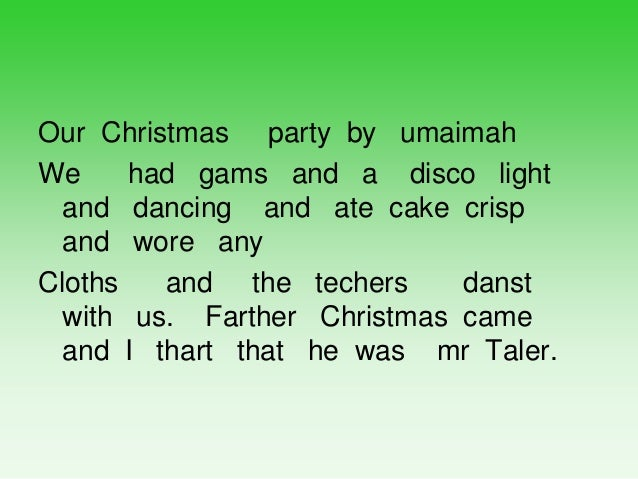 Recounts of Our Christmas Party by Year 1