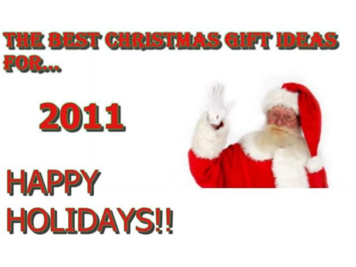 Best Christmas Gift Ideas 2011
