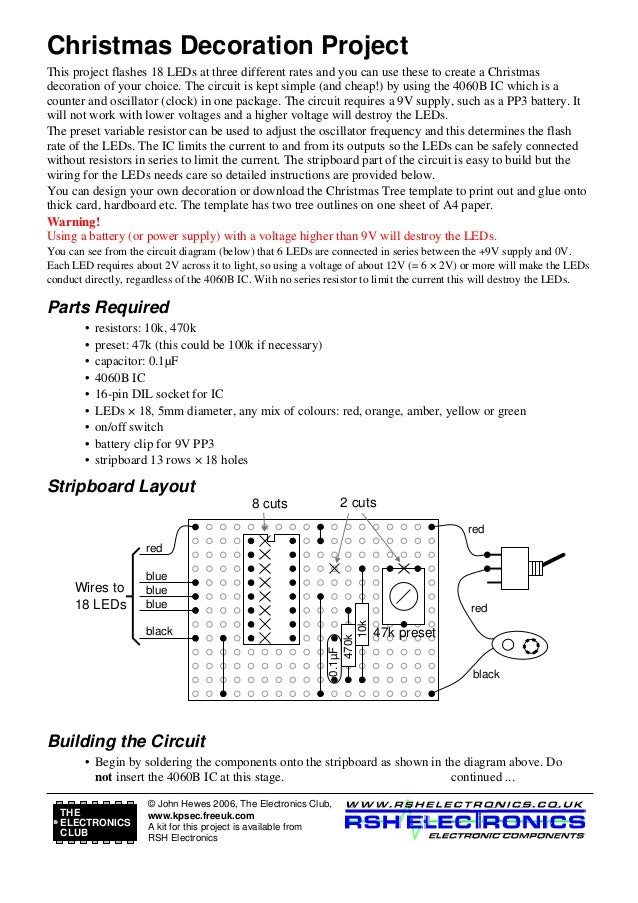 Christmas Decoration Project This project flashes 18 LEDs at three different rates and you can use these to create a Chris...