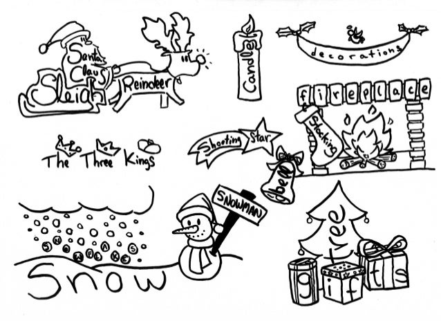 Gallery For gt Christmas Drawing Ideas