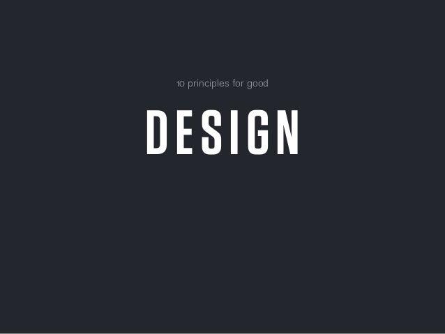 10 Principles for Good Design for Mobile