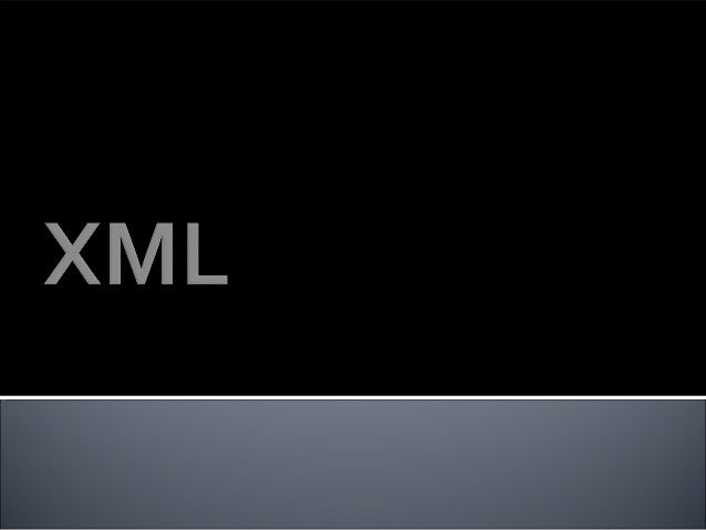 •XML stands for EXtensible Markup Language •XML is a markup language much like HTML •XML was designed to carry data, not t...