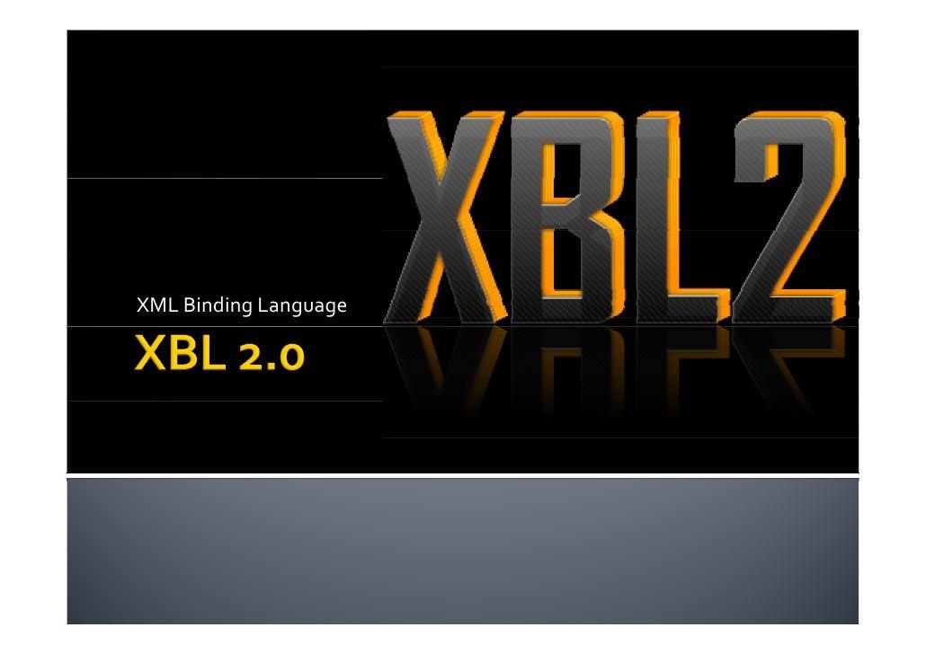 XML Binding Language 2.0