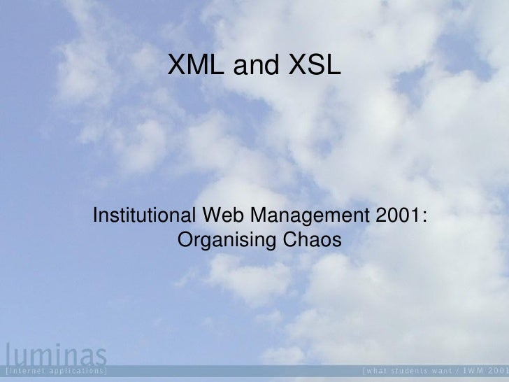 XML and XSLT