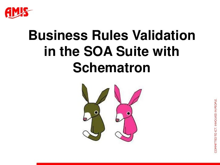 Business Rules Validation  in the SOA Suite with       Schematron