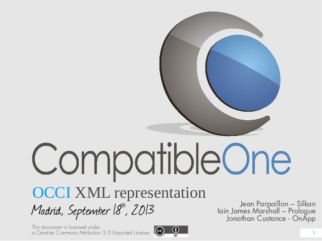 OCCI XML representation