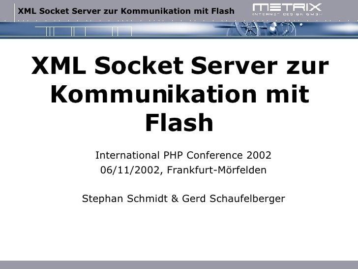 XML-Socket-Server zur Kommunikation mit Flash