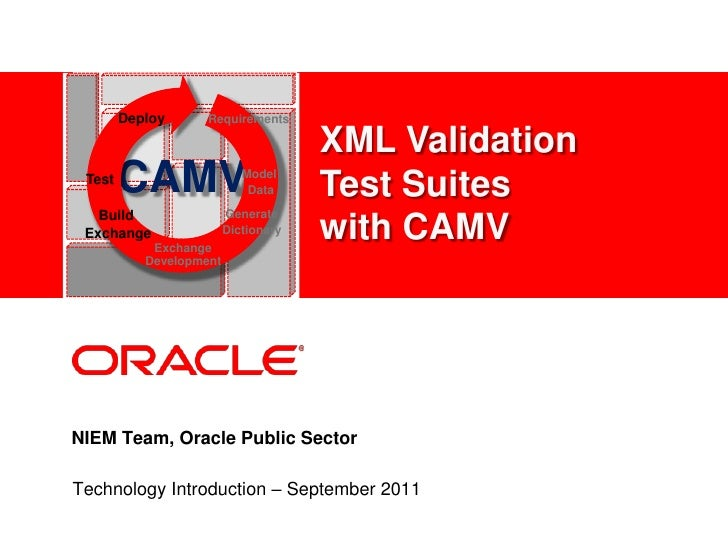 Xml Validation Test Suite With Camv