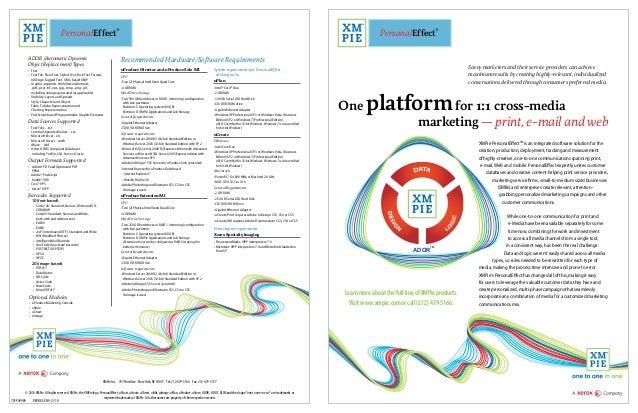One platform for 1:1 cross-media marketing — print, e-mail and web