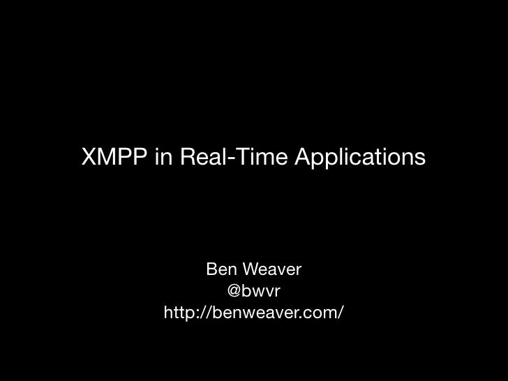 XMPP In Real Time