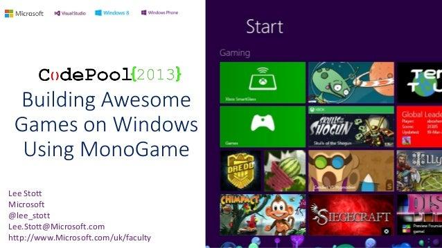 XNA Windows 8 MonoGame