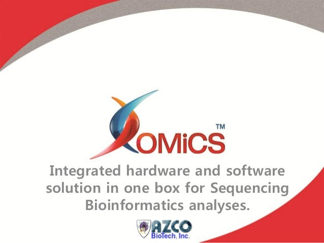 Integrated hardware and softwaresolution in one box for Sequencing      Bioinformatics analyses.