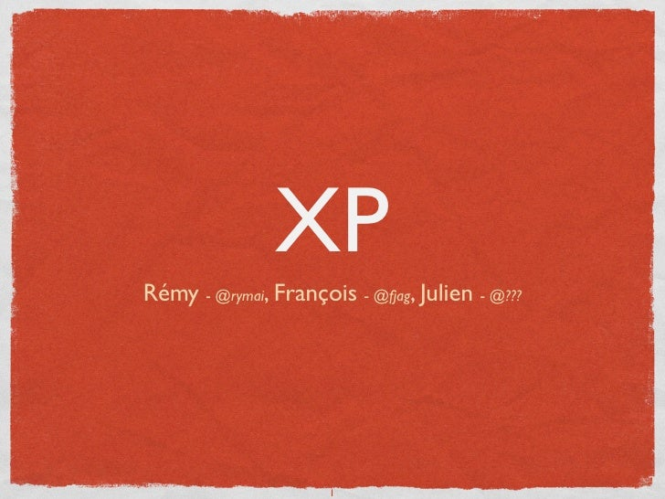 eXtreme Programming [fr]