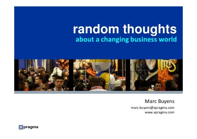 random thoughts                                                    about a changing business world                        ...