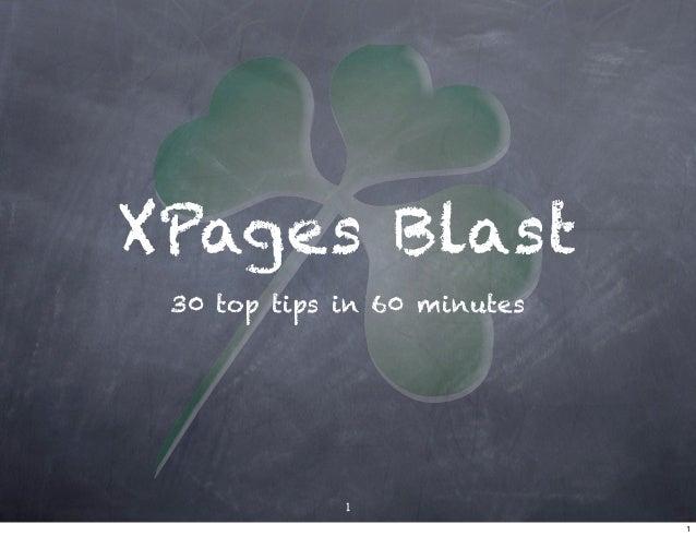 XPages Blast - ILUG 2010