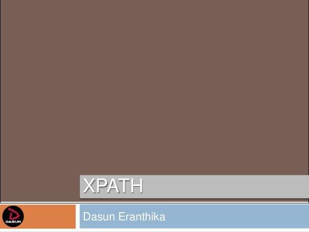 XPATHDasun Eranthika