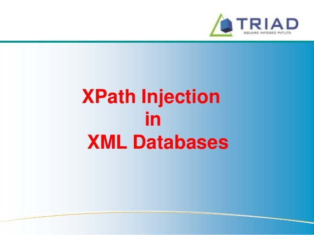 XPath Injection in XML Databases