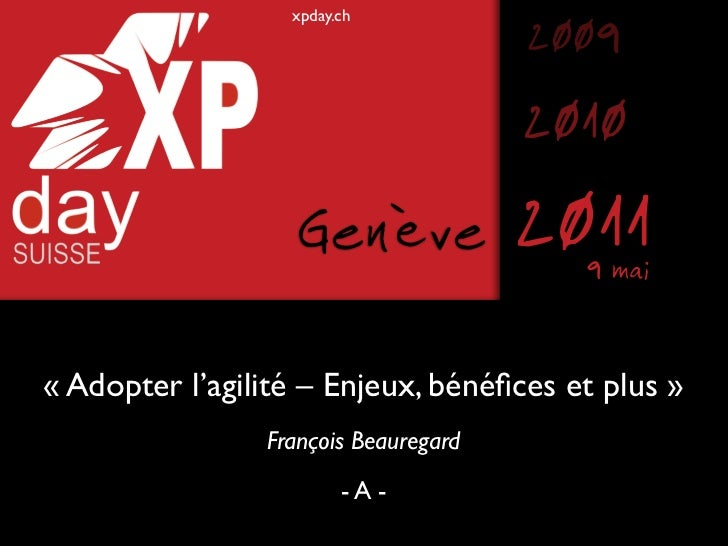 xpday.ch                                      2009                                      2010                   Genève     ...