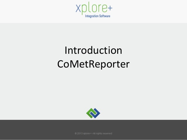 Introduction CoMetReporter